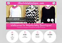 Client: Absolutely Boutique<br/>Project: absolutelyboutique.com<br/>Wordpress, Single Page Design, Shopping Cart, Gallery, Responsive Design