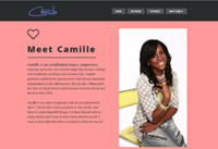 Client: Simply Camille<br/>Project: simplycamille.com<br/>Wordpress, Single Page Design, Portfolio, Gallery, Responsive Design