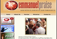 Client: Emmanuel Praise Church<br/>Project: www.epraise.org<br/>Tools: xhtml, css, flash, php, photoshop