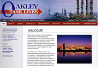 Client: Oakley Tank Lines<br/>Project: www.oakleytanklines.com<br/>Tools: xhtml, css, Flash, Photoshop
