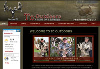 Client: Tc Outdoors<br/>Project: www.tcoutdoors.com<br/>Tools: xhtml, css, flash, javascript, photoshop