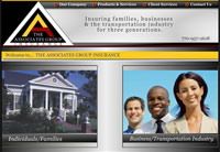 Client: The Associates Insurance Group<br/>Project: www.taglg.com<br/>Tools: xhtml, css, flash, php, photoshop