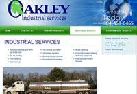 Client: Oakley Industrial Services<br/>Project: www.oakleyindustrialservices.com<br/>Tools: xhtml, css, Flash, Photoshop