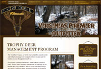 Client: Rock Island Creek Whitetails<br/>Project: www.rockislandcreekwhitetails.com<br/>Tools: xhtml, css, flash, javascript, photoshop
